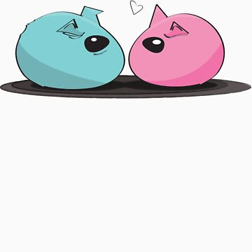 Pink and Blue Nesting Rock Guinea Pigs by KjunSL1