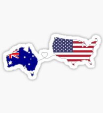 Australia - USA | Long Distance Love Sticker