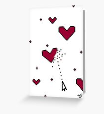 VIDEO HEARTS by Tai's Tees Greeting Card