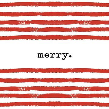 Red stripes-merry by SylviaCook