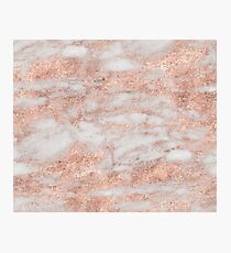 Martino rose gold marble Photographic Print