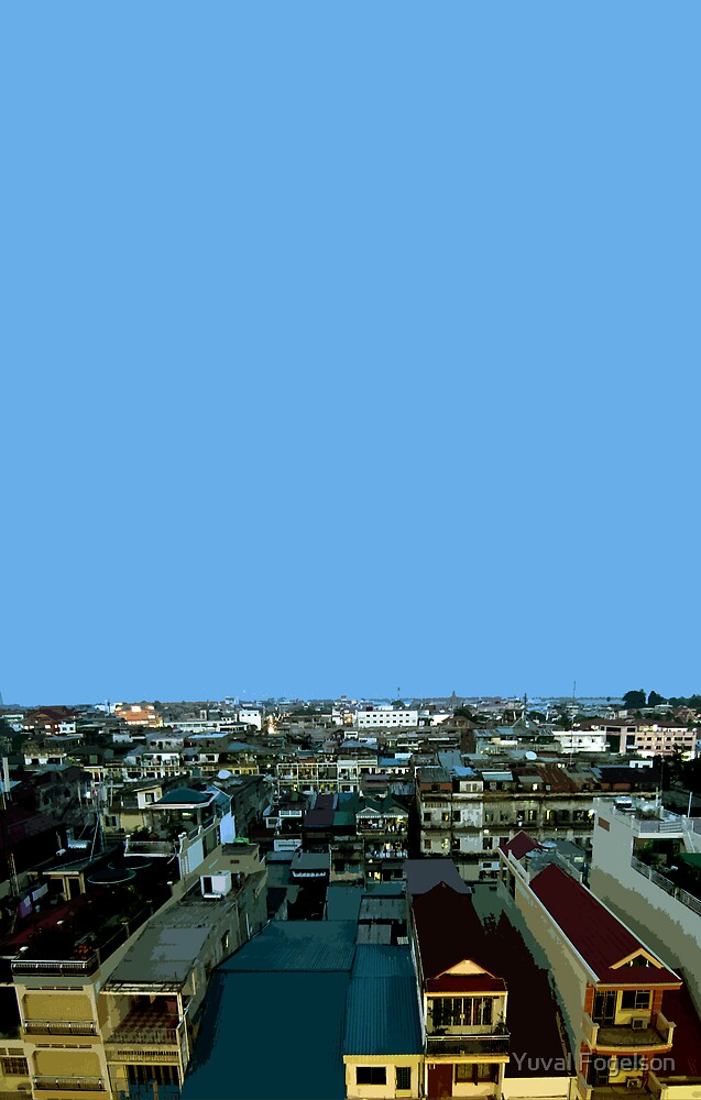 pnom penh view by Yuval Fogelson
