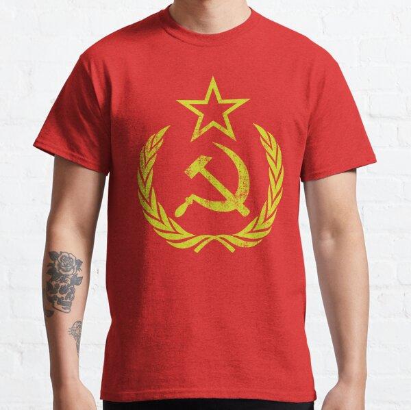 Communist Flag Hammer Sickle Vintage & Retro T-shirt classique
