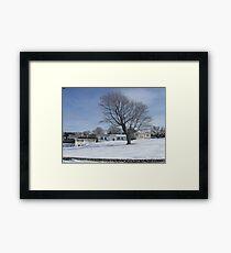 Watch Hill Winter 2015  WH Court Framed Print