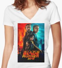 BLADE RUNNER 2049 Women's Fitted V-Neck T-Shirt