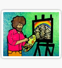 Bob Ross Happy Trees Painting Sticker