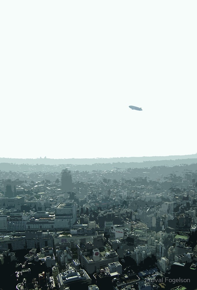 ikebukuro blimp by Yuval Fogelson