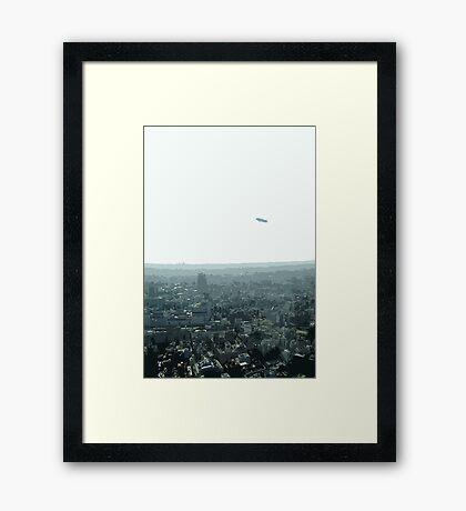 ikebukuro blimp Framed Print