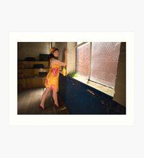 Jo in 'Saffron and Cyclamen' Art Print