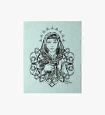 Saint Dymphna in SEAFOAM Art Board