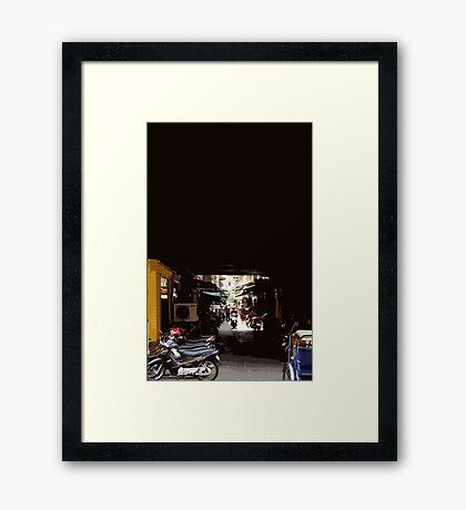 phnom penh alley Framed Print