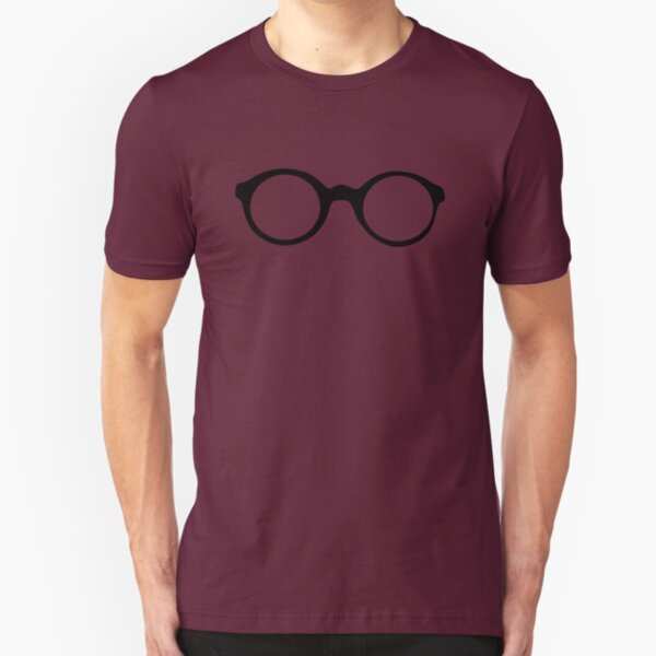 Round Glasses Slim Fit T-Shirt
