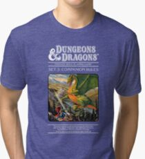 Dungeons and Dragons Companion Guide (Remastered) Tri-blend T-Shirt