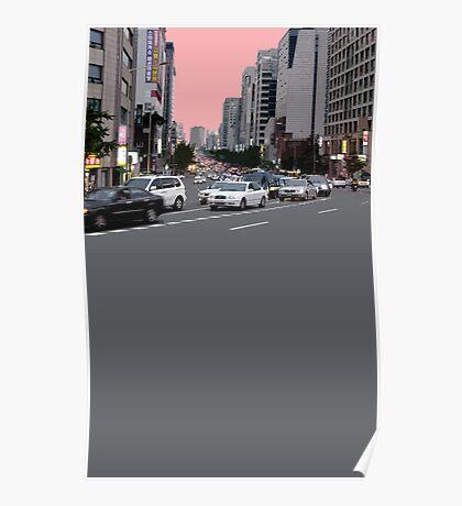 pink sky boulevard Poster