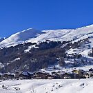 Panorama of Livigno  by Steve plowman