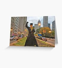 +Brother Nathanael in Chicago!//Michigan Ave & Chicago Inst of the Arts! Greeting Card