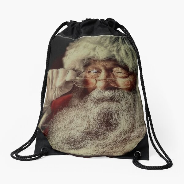 Santa Claus Drawstring Bag