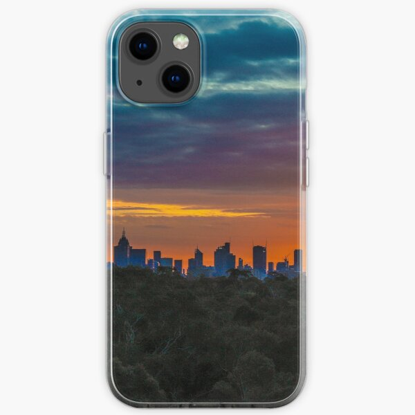 Melbourne sunset from Yarra Boulevard iPhone Soft Case
