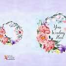 Abigail Watercolour Floral Border by Lesley Smitheringale