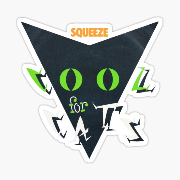 Squeeze Cool For Cats Sticker
