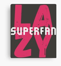 Lazy Superfan Podcast Logo Canvas Print