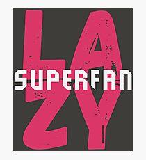 Lazy Superfan Podcast Logo Photographic Print