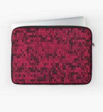 Red knitted textiles Laptop Sleeve