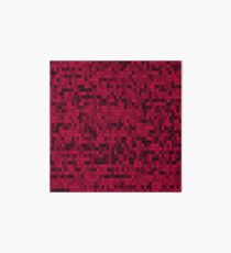 Red knitted textiles Art Board