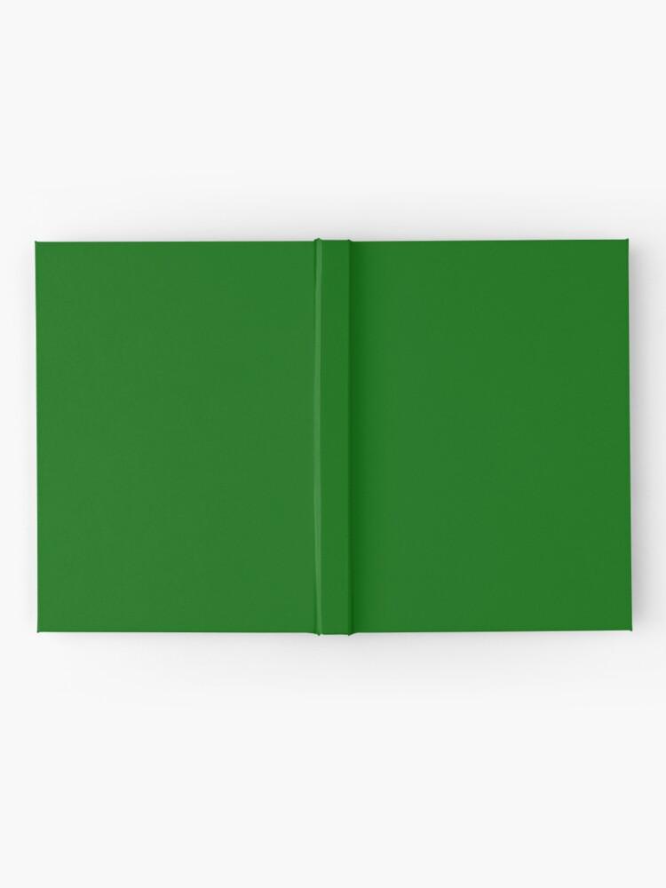 Alternative Ansicht von Dunkelgrün Notizbuch