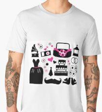 Cute wedding icons black Men's Premium T-Shirt