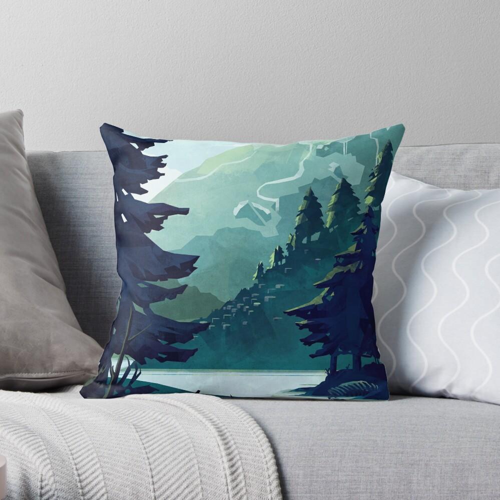 Canadian Mountain Throw Pillow