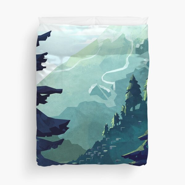 Canadian Mountain Duvet Cover