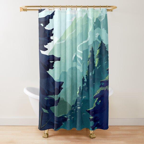 Canadian Mountain Shower Curtain