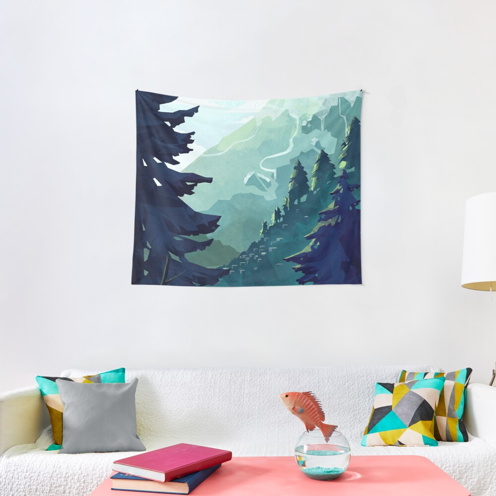 Canadian Mountain Tapestry