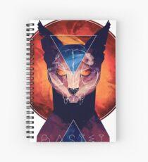 Bastet - Cat Goddess Spiral Notebook
