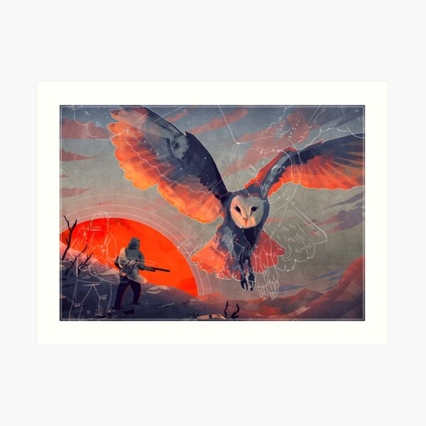 Owl Hunt Art Print