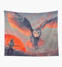 Owl Hunt Wall Tapestry