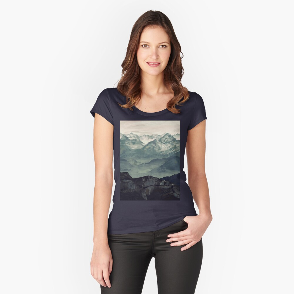 Mountain Fog Fitted Scoop T-Shirt