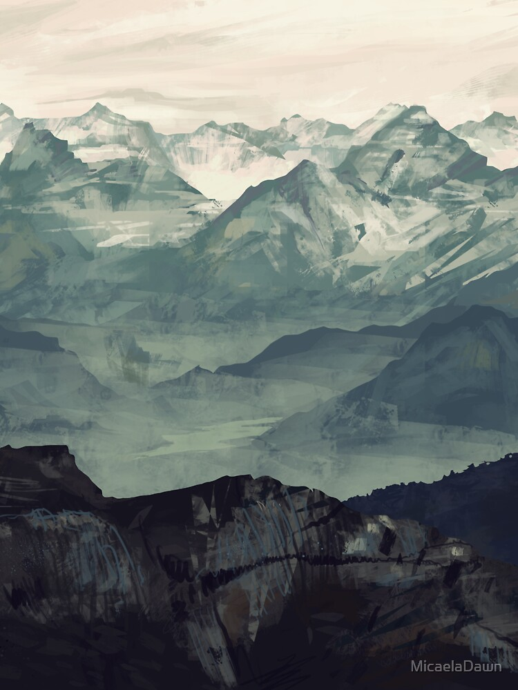 Berg Nebel von MicaelaDawn