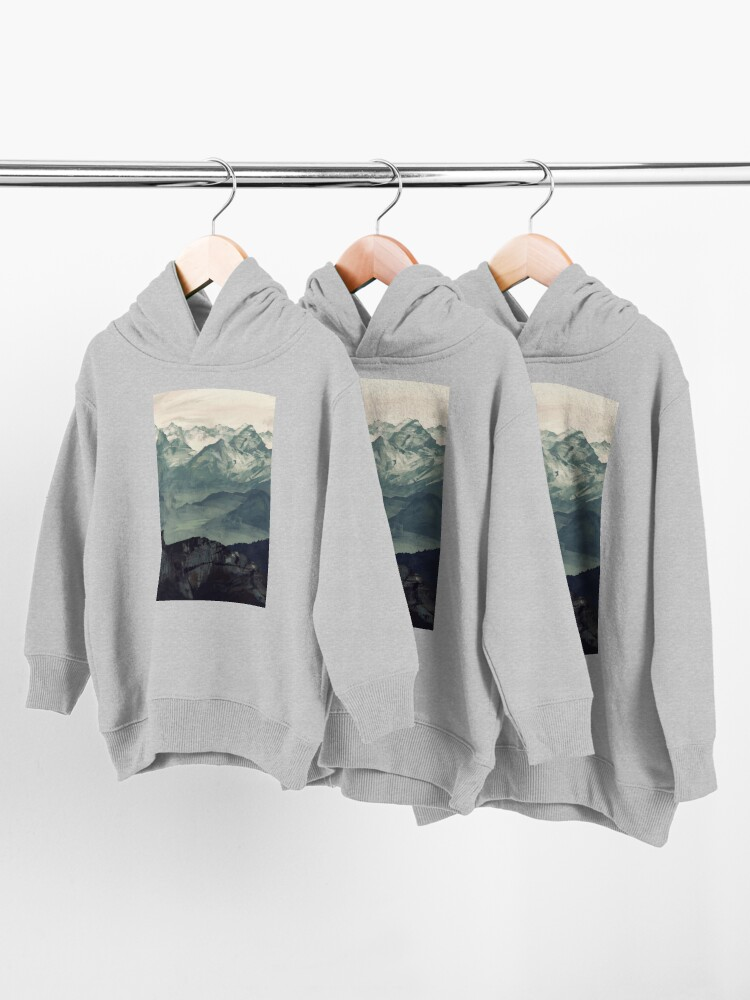 Alternate view of Mountain Fog Toddler Pullover Hoodie