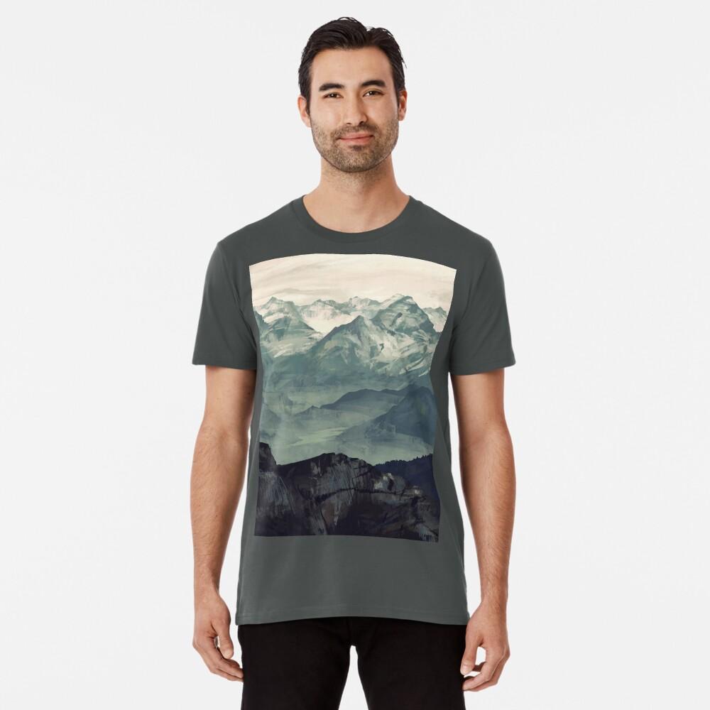 Berg Nebel Premium T-Shirt