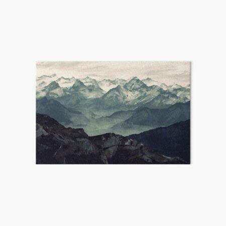 Mountain Fog Art Board Print