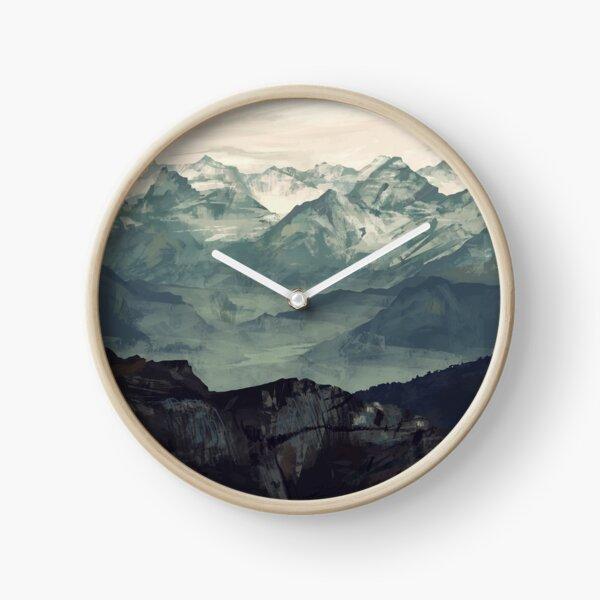 Mountain Fog Clock