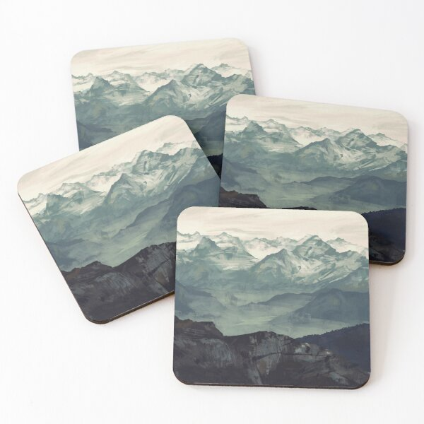 Mountain Fog Coasters (Set of 4)