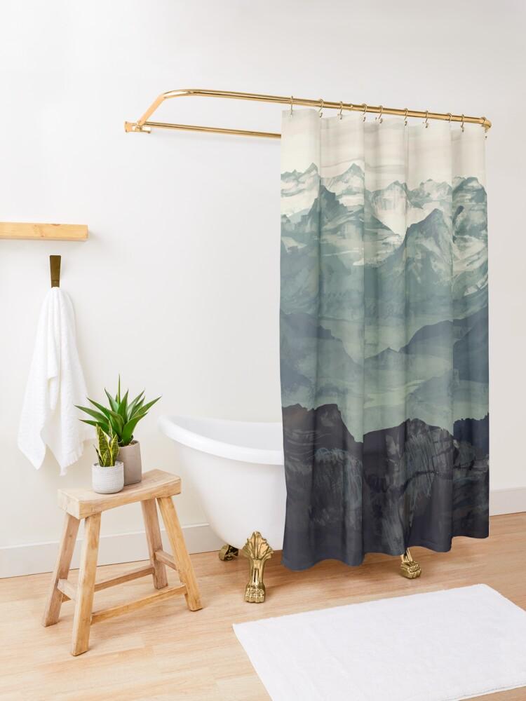 Alternate view of Mountain Fog Shower Curtain