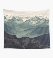 Berg Nebel Wandbehang