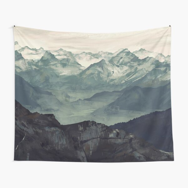 Mountain Fog Tapestry