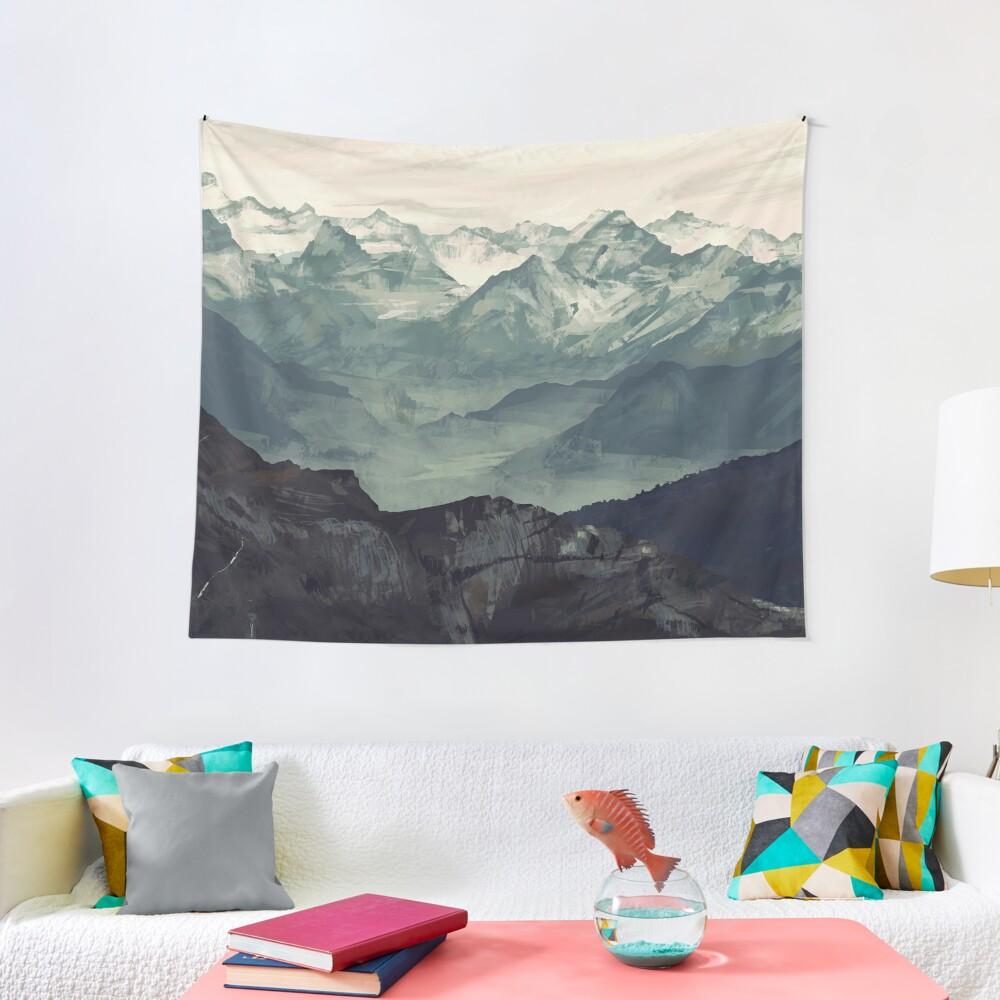 Mountain Fog Tapestry