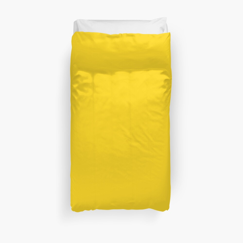 Natural Color Yellow  Duvet Cover