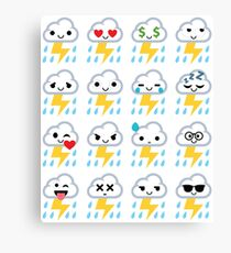 Thunderstorm Emoji  Canvas Print